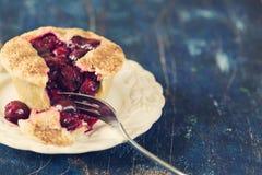 Sweet cherry pie. Stock Photos