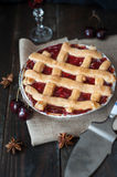 Sweet cherry pie Royalty Free Stock Photography