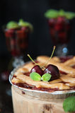 Sweet cherry pie Stock Photo