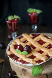 Sweet cherry pie Stock Photography