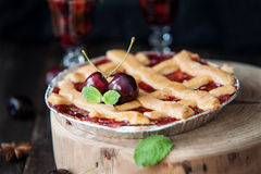 Sweet cherry pie Royalty Free Stock Image