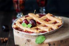 Sweet cherry pie Royalty Free Stock Image
