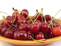 Sweet cherry on a plate Royalty Free Stock Image