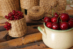 Sweet cherry and red currant Royalty Free Stock Photos
