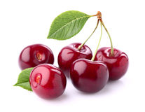 Sweet cherry. Sweet ripe cherry in closeup Royalty Free Stock Photography