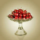 Sweet cherry in vase Royalty Free Stock Photos