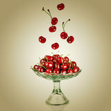 Sweet cherry in vase Stock Photo