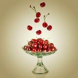 Sweet cherry in vase Stock Photo