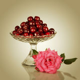 Sweet cherry in vase Royalty Free Stock Image