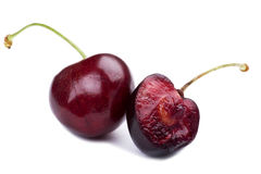 Sweet cherry on white Stock Photography