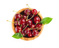 Sweet cherry. On white background Stock Photo
