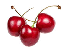 Sweet cherry on a white background Stock Photos