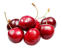 Sweet cherry on a white background Royalty Free Stock Photography