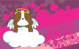 Sweet cherub hamster cartoon background Royalty Free Stock Images
