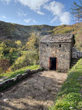 Sweet chestnut drying house, traditional Italian agriculture. Stock Photography