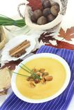 Sweet chestnut soup Royalty Free Stock Images
