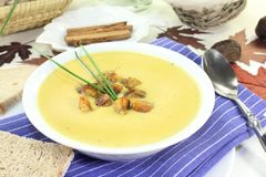 Sweet chestnut soup Stock Photography