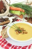 Sweet chestnut soup Stock Photos