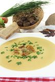 Sweet chestnut soup Stock Image