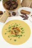 Sweet chestnut soup Stock Photo