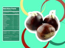Sweet chestnuts nutrition facts Stock Photography