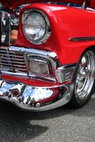 Sweet chevy. Drivers front bumper, grill, fender and wheel...'59 Chevy Royalty Free Stock Images