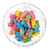 Sweet chewing colored baby sweets Stock Photos