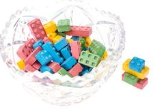 Sweet chewing colored baby sweets Royalty Free Stock Photos