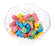 Sweet chewing colored baby sweets Stock Photography