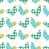 Sweet chicken seamless pattern. Sweet colorful chicken seamless pattern  vector illustration Stock Image