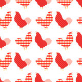 Sweet chicken seamless pattern. Sweet colorful chicken seamless pattern  vector illustration Stock Images