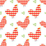 Sweet chicken seamless pattern. Sweet colorful chicken seamless pattern  vector illustration Royalty Free Stock Photo