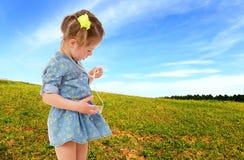 Sweet child having fun outdoor Stock Photos