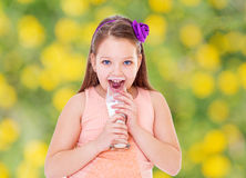Sweet child having fun outdoor Stock Photography
