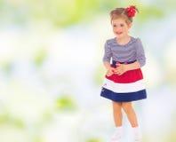 Sweet child having fun outdoor Stock Image