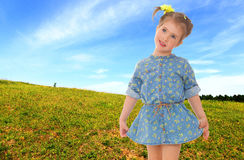 Sweet child having fun outdoor Stock Photo