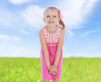 Sweet child having fun outdoor Royalty Free Stock Photo