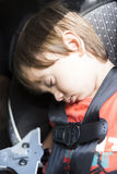 Sweet Child In His Safety Car Seat Stock Image
