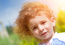Sweet child outdoors Royalty Free Stock Photo