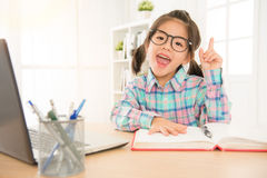 Sweet children in black eyeglasses educated Royalty Free Stock Image