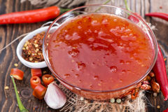 Sweet Chili Sauce Stock Images