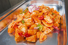 Sweet chilli potatoes at a chinese buffet Stock Image