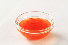 Sweet chilli sauce Royalty Free Stock Photo