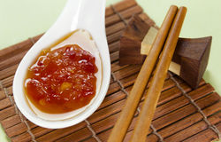 Sweet Chilli Sauce Royalty Free Stock Photography
