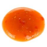 Sweet Chinese Chili Sauce Isolated on White Background Stock Photos