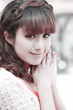 Sweet Chinese girl. Outdoor portrait Stock Photo