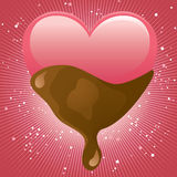 Sweet Chocolate!. Love concept -- heart with chocolate Royalty Free Stock Images