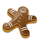Sweet chocolate biscuit human for christmas holiday Stock Images