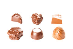 Sweet chocolate bombon Stock Photos