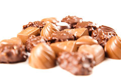 Sweet chocolate bombon Royalty Free Stock Images